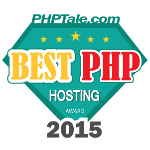 Best PHP Hosting Award 2015 - PHPTale.com