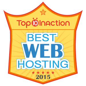 Best Web Hosting Award 2015 - Top10Hosting.com