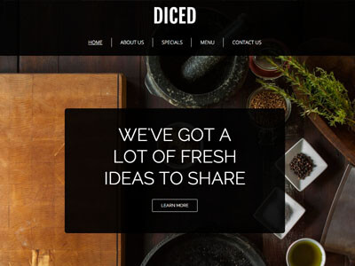Diced Restaurant Theme Screenshot
