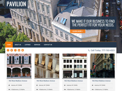 Pavilion Real Estate Theme Screenshot