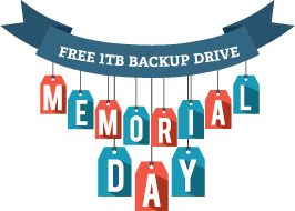 Free 1TB Backup Drive - Memorial Day Special
