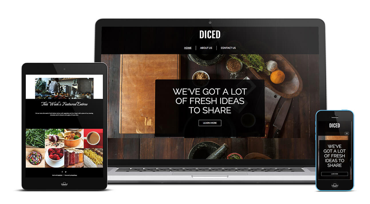 Diced Design | WordPress Website Themes