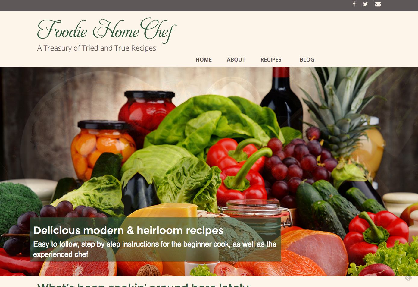 Foodie Home Chef