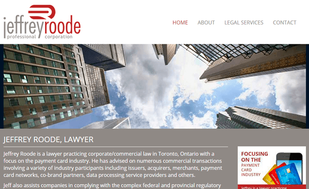 Jeffrey Roode Legal Services