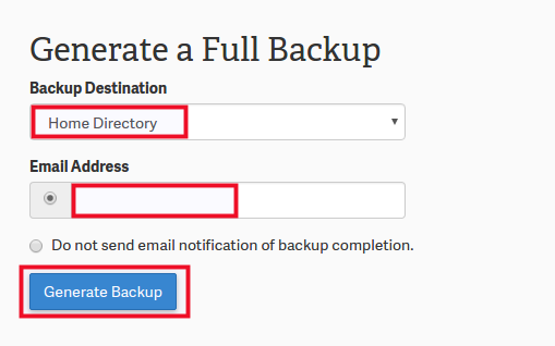 Create a Complete Back Up