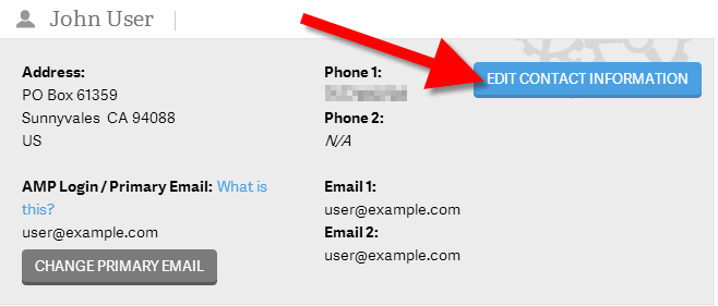 Edit Contact Information button displayed