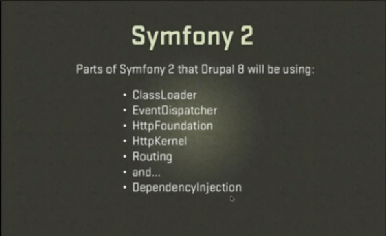 included symfony content