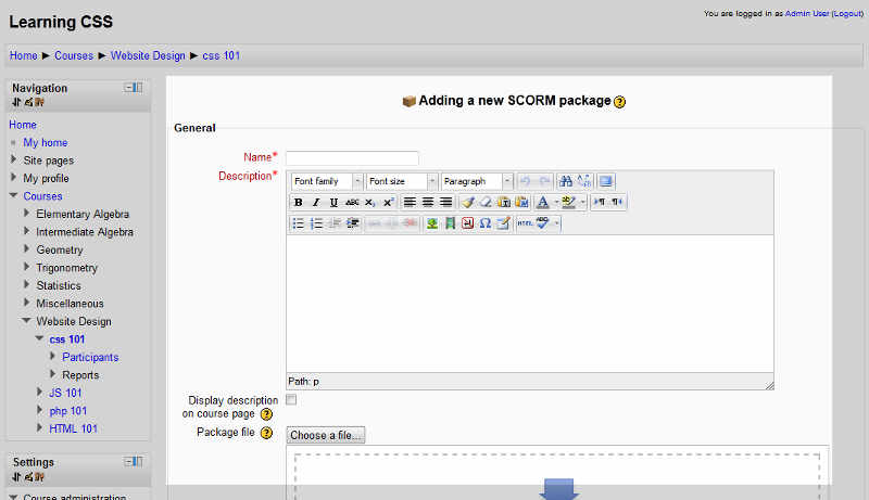 adding-a-new-scorm-package
