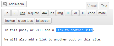 create text link