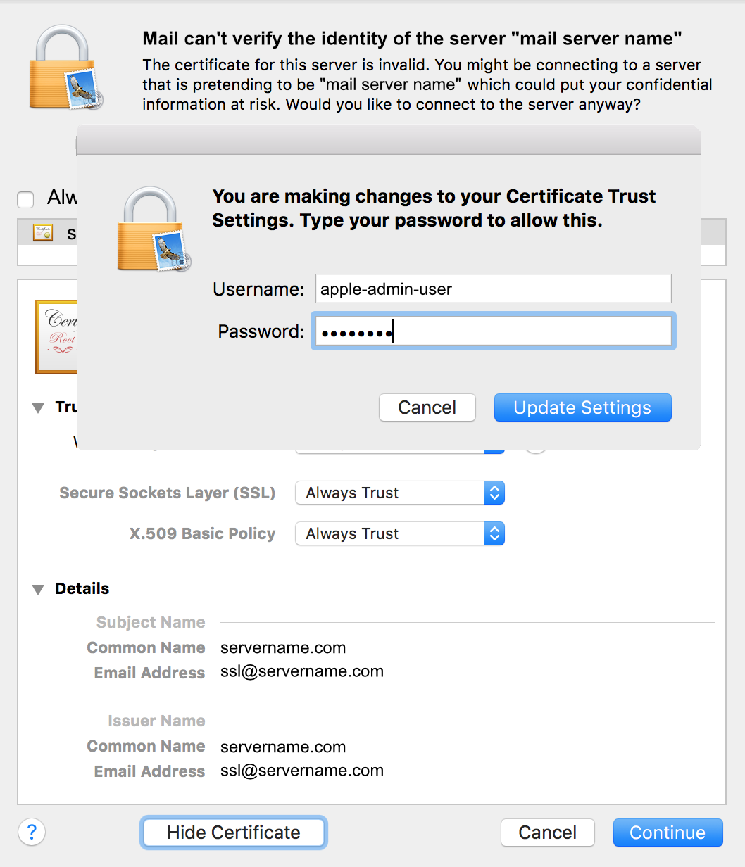 Verify change with Apple login