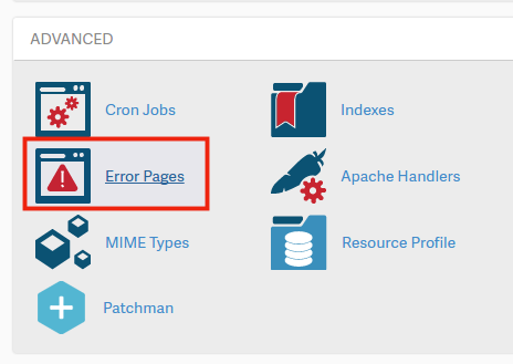 cPanel Advanced Error Pages