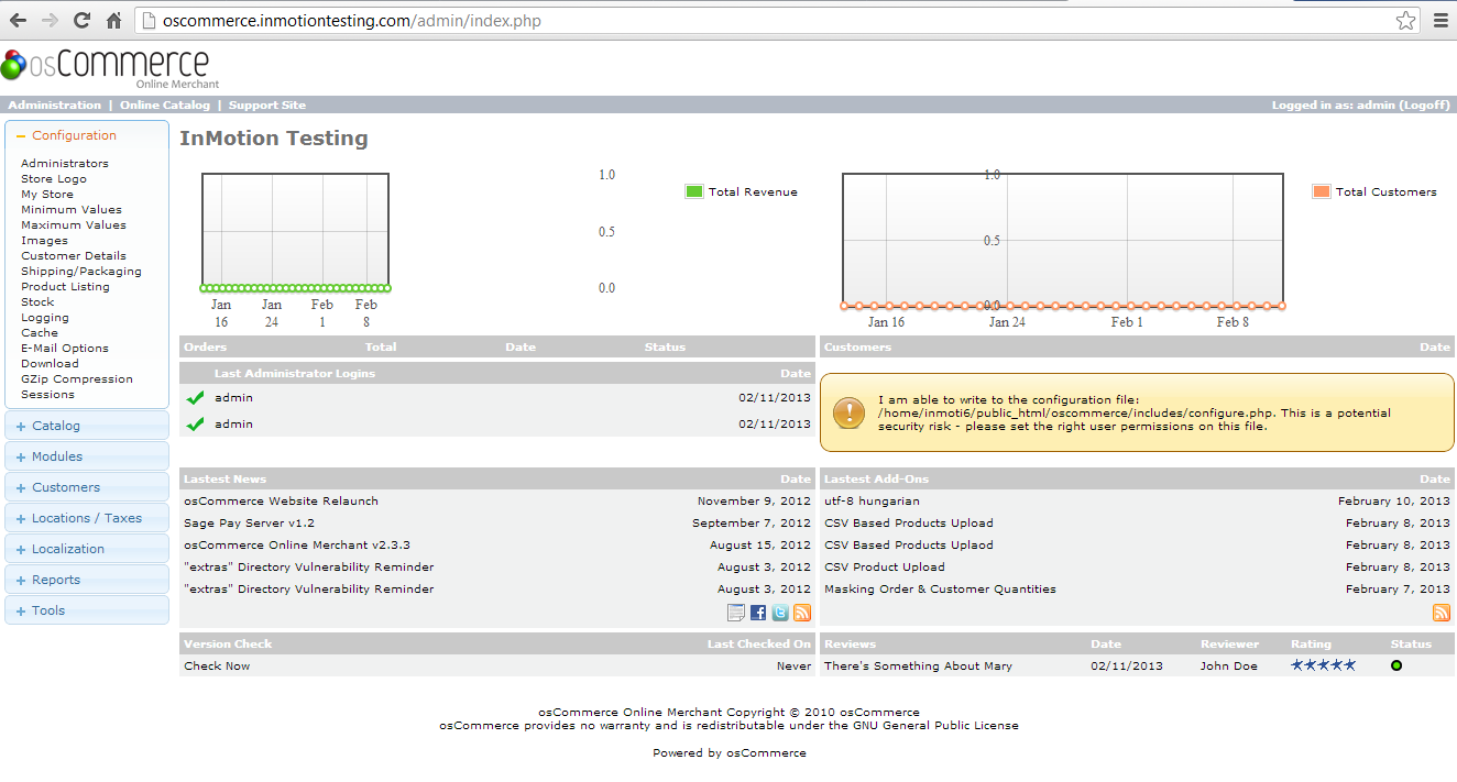 admin dashboard after login