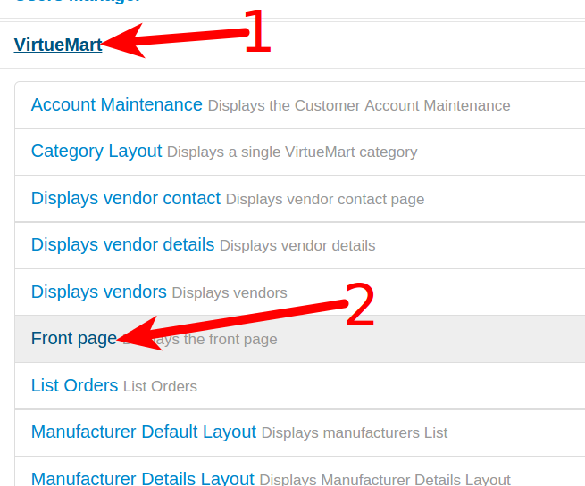 How to Make VirtueMart 3 your Front Page | InMotion Hosting Frontpage Page on