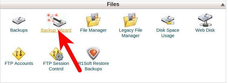 Backup in cPanel