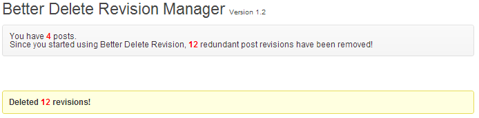 wordpress admin better delete revision revisions deleted
