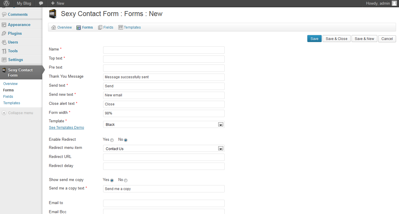 Sexy Contact Form Wordpress Plugin | InMotion Hosting