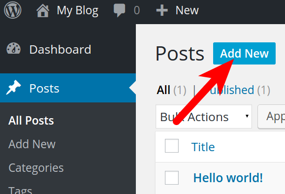 Creating a Post in WordPress