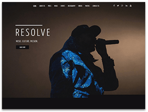 Resolve Theme Screenshot