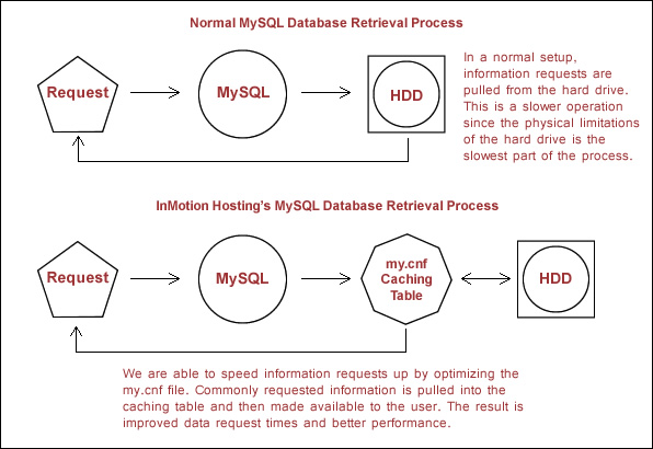 MySQL database retrieval process