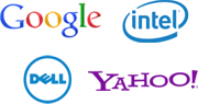 Some of our partners: Google, Yahoo, Dell, Intel