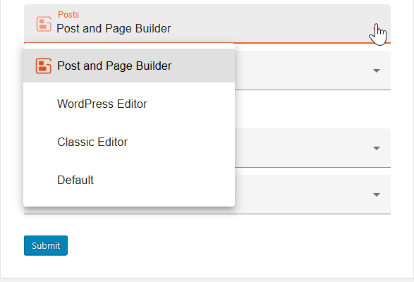 preferred editor options