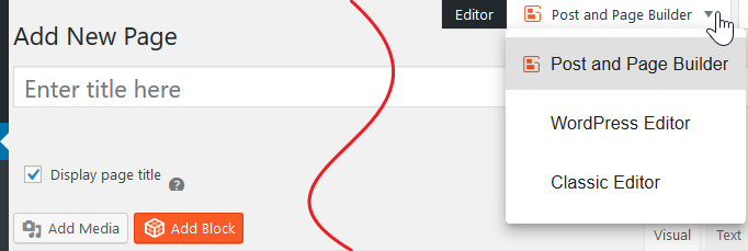 change editor manually