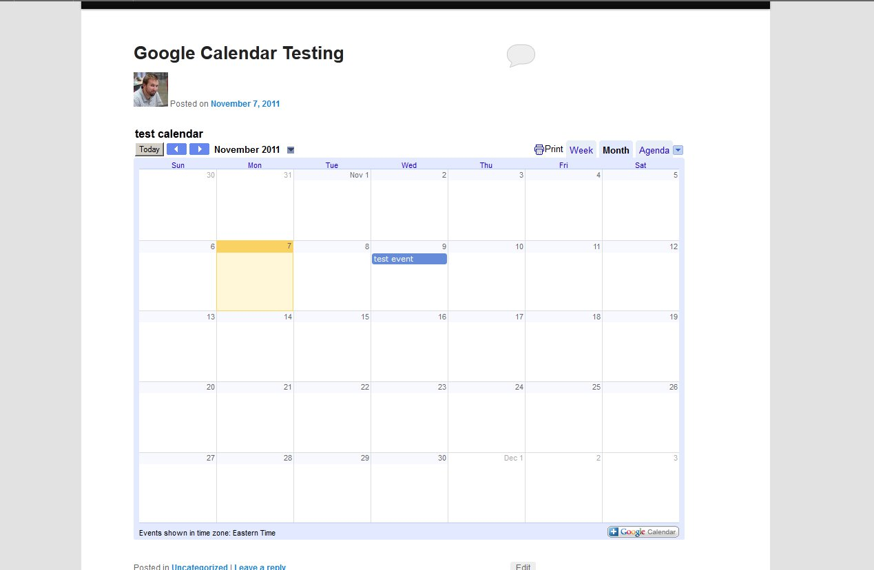 what google calendar looks like
