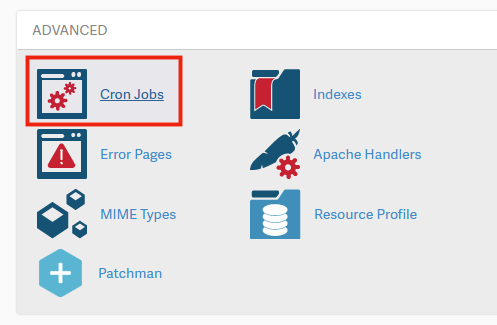 click on cron jobs in cpanel