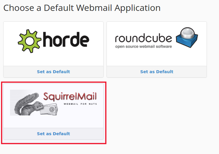 click on squirrelmail interface