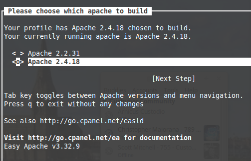 Dedicated Apache Build