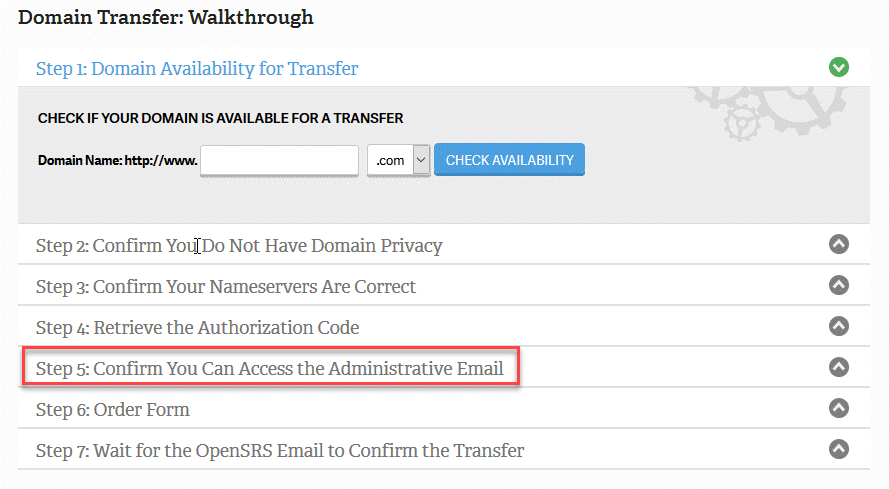 Confirm access to admin email