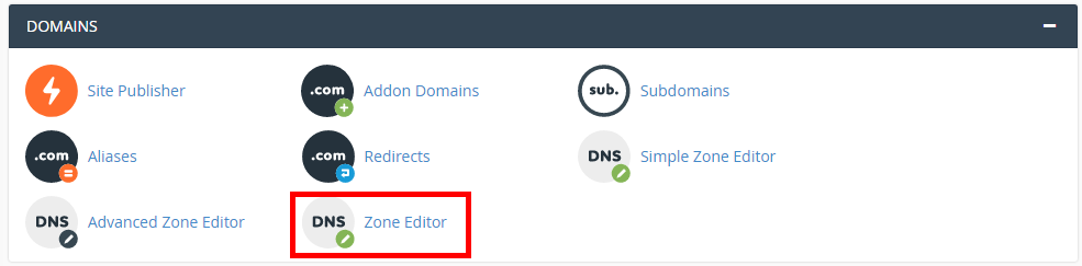 Click on DNS Zone