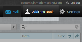 click address book icon