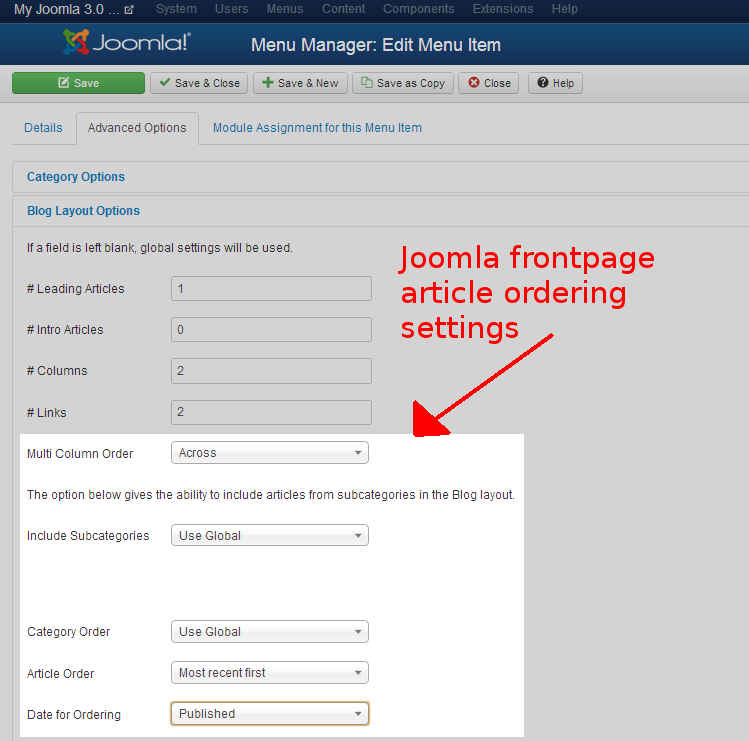 joomla-frontpage-article-order
