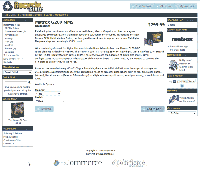 View with new logo osCommerce 2.3.3