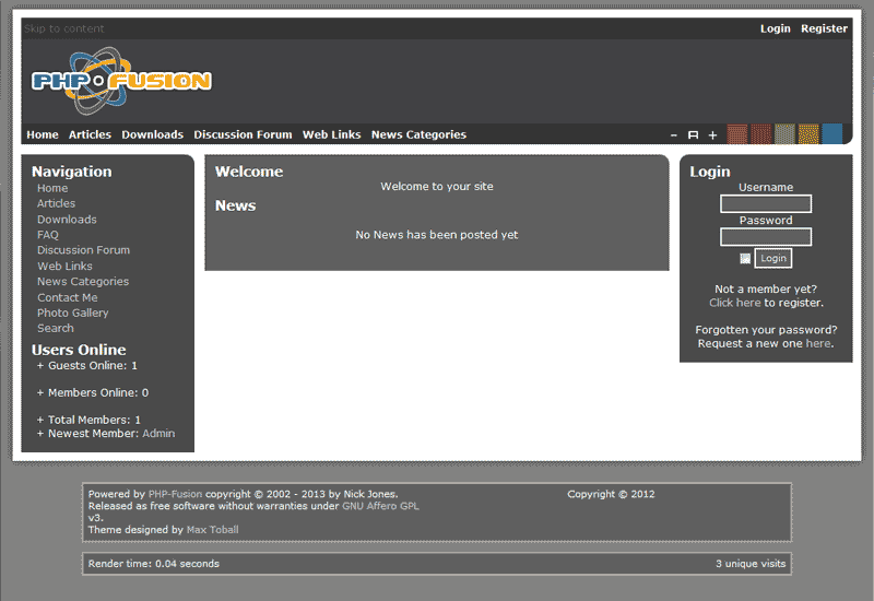 New theme PHP-Fusion