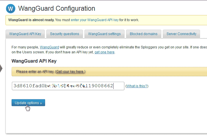 Update WangGaurd security plugin for WordPress