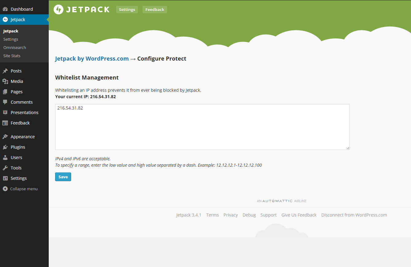 New features in the Jetpack WordPress plugin