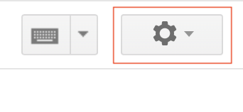 Gmail Cog icon highlighted.