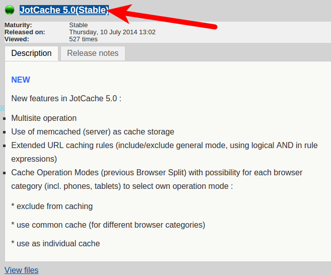 JotCache file download
