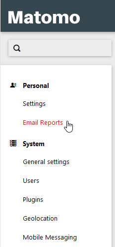 Select Email Reports