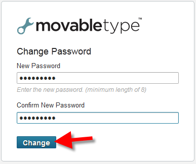 creating a new password