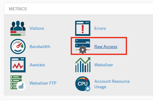 cpanel raw access logs displayed