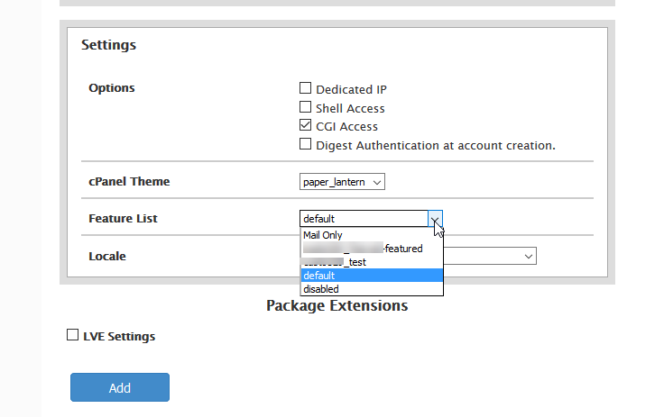 configure settings