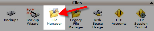 open file manager in cPanel