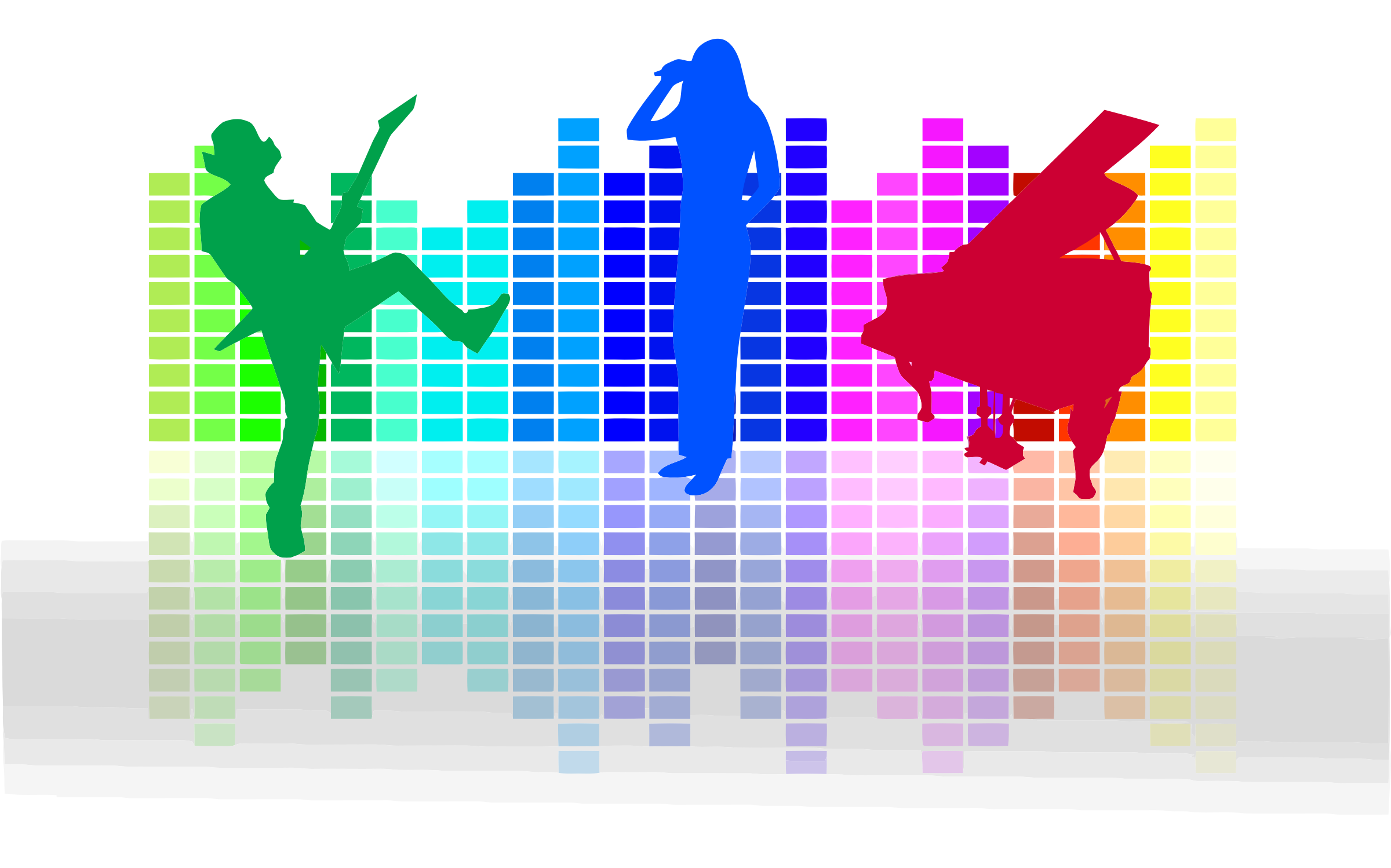 audio spectrum and musicians openclipart