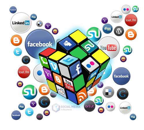 social media networks rubik cube