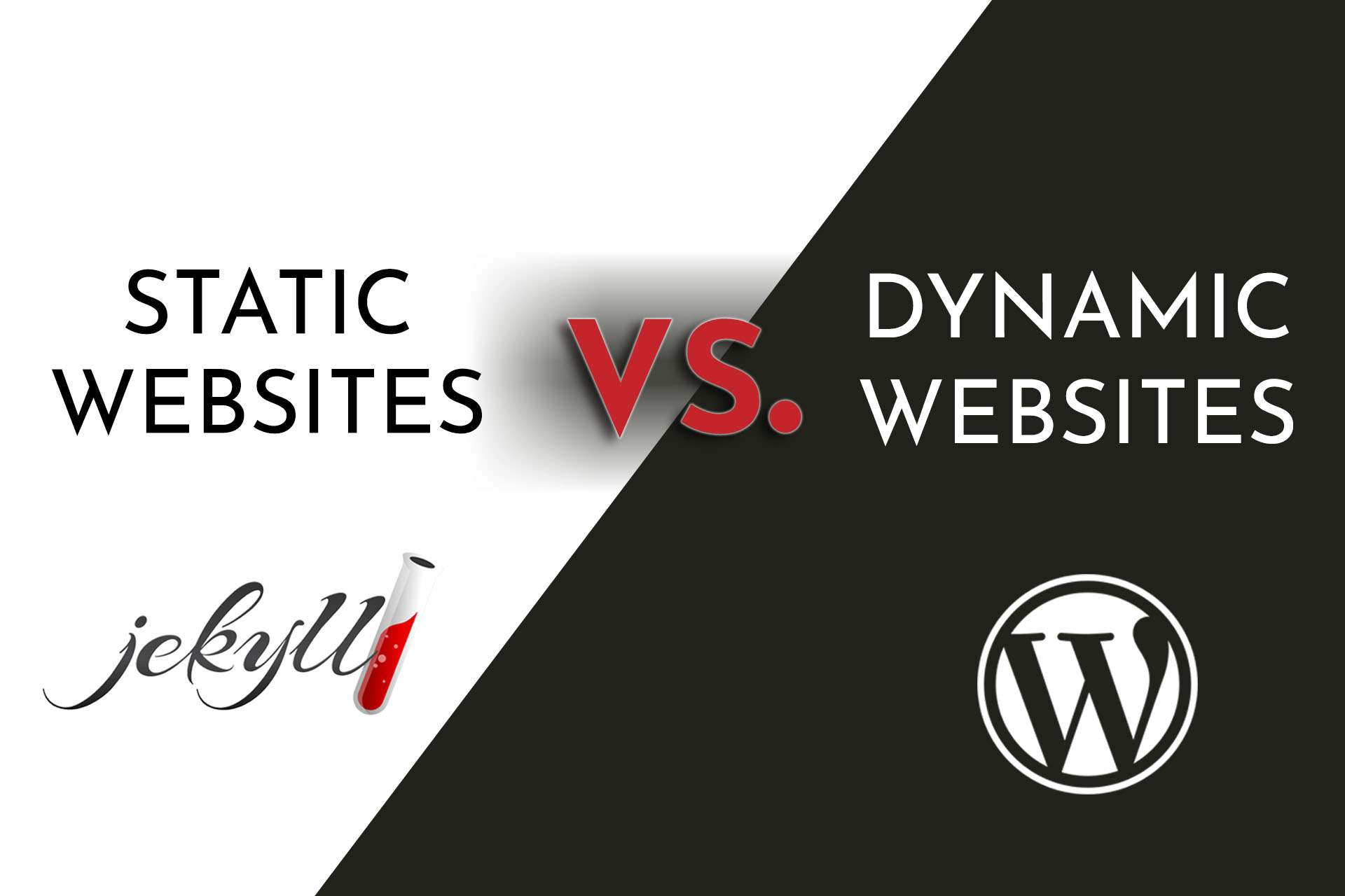 Static VS Dynamics Sites Image