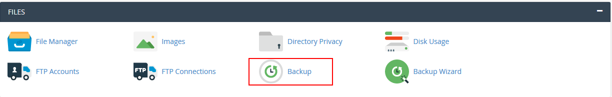 cpanel click on backups