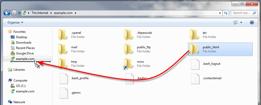 Add A Ftp Site To Your Windows Favorites Inmotion Hosting
